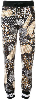 Dolce & Gabbana Star And Leopard Print Track Trousers