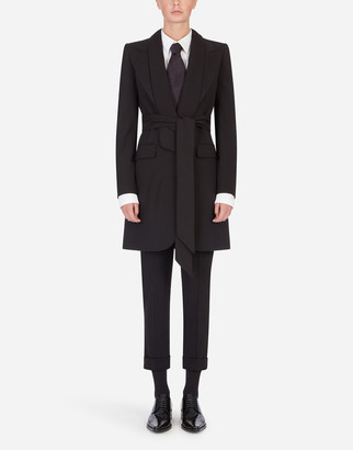 Dolce & Gabbana Stretch Wool Jacket-Style Coat