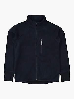 Polarn O. Pyret Children's Waterproof Fleece Jacket, Dark Sapphire