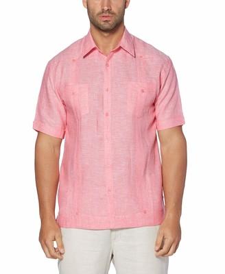 Cubavera Men's Cross Dyed Guayabera Woven Shirt