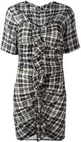 Etoile Isabel Marant checked dress - women - Cotton/Linen/Flax - 38