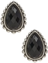 Lagos Sterling Silver Maya Onyx Doublet Teardrop Earrings