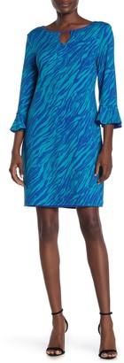 Laundry by Shelli Segal Reversible Quarter Sleeve Dress