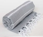 Paramus 100% Cotton Pestemal Turkish Bath Towel (1pcs Silver Grey)