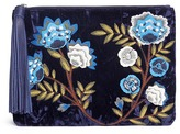 Sam Edelman 'Azalea' floral embroidered velvet pouch