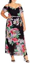 City Chic Plus Size Women's Romantic Pop Maxi Dress
