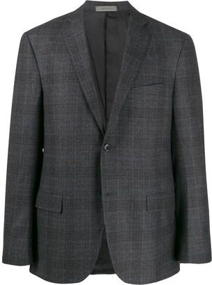 Corneliani check single-breasted coat