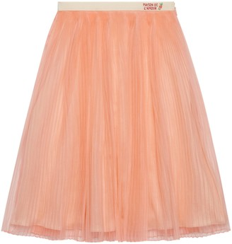 Gucci Children's embroidered silk organza skirt