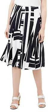 Hobbs London Hobbs Tahlia Geometric Print Skirt