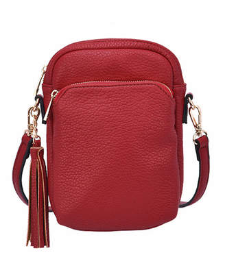 Mellow World Women's Crossbodies Maroon - Maroon Tassel-Accent Remi Mini Crossbody Bag