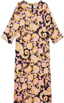 Gucci Paisley-Print Kaftan Dress