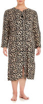 Miss Elaine Plus Animal-Print Mumu Duster Robe
