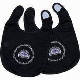 Baby Fanatic Team Color Bibs, Colorado Rockies, 2-Count