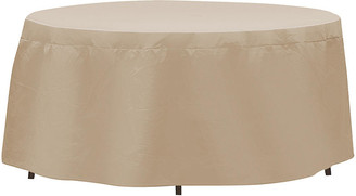 """Protective Covers 76"""" Oval/Rectangular Table Cover - Tan"""