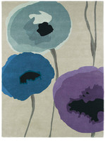 Sanderson Poppies Indigo/Purple Rug - 200x280cm