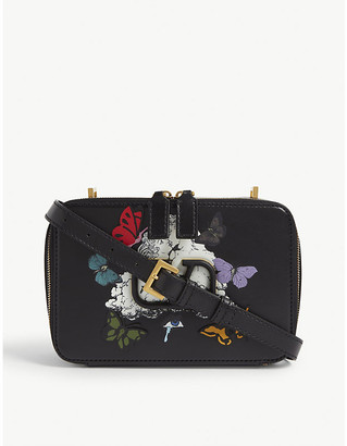 Valentino x Undercover butterfly print leather cross-body bag