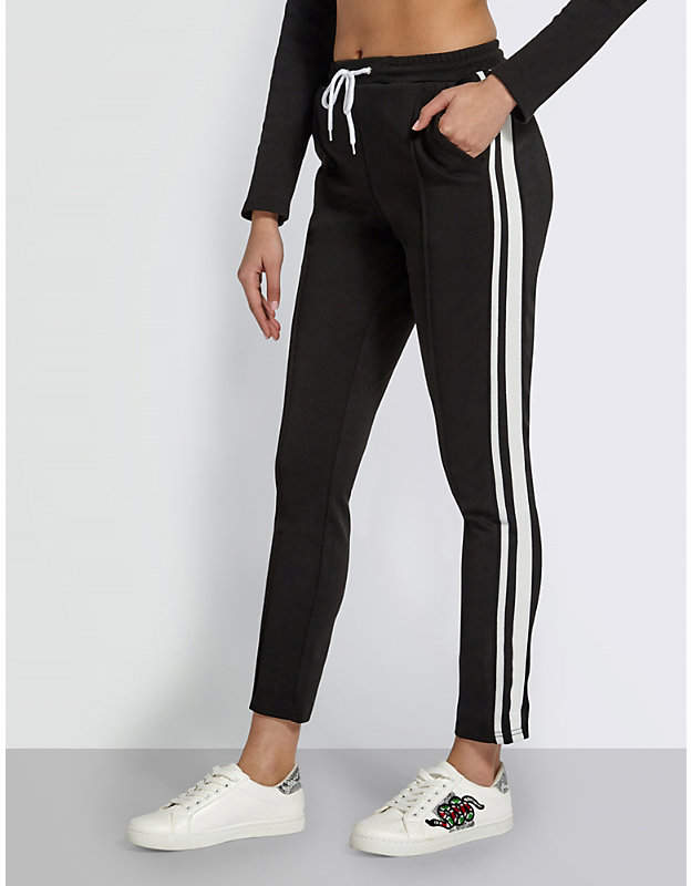 Missguided Stripe-panelled jogging bottoms