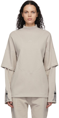A-Cold-Wall* Taupe Oversized Double Long Sleeve T-Shirt