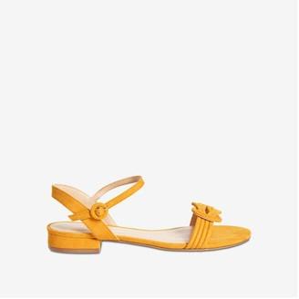 Joe Fresh Women's Low Block Heel Sandals, Yellow (Size 10)