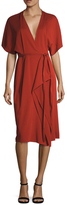 Narciso Rodriguez Kimono Sleeve Jersey Wrap Dress