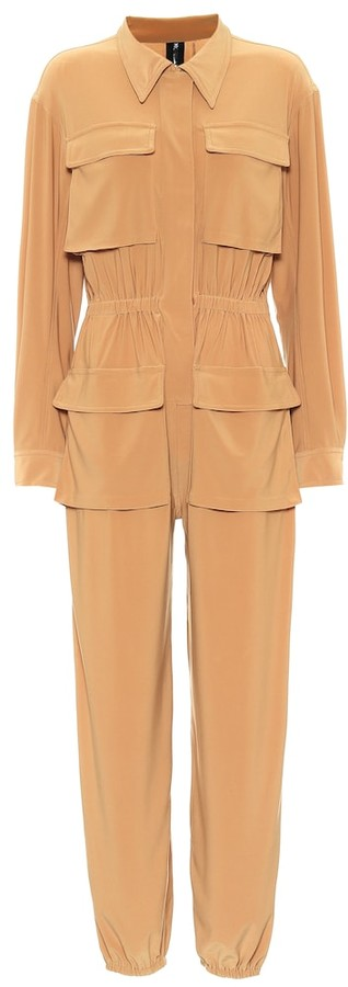 Thumbnail for your product : Norma Kamali Cargo Jog stretch-jersey jumpsuit