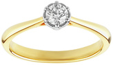 Enchanted 9ct Gold 0.25ct Diamond Solitaire Ring