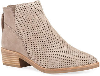 Dolce Vita Tamira Perforated Suede Booties