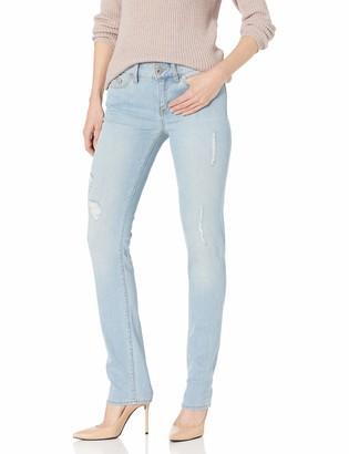 Yummie Women's Modern Mid Rise Slimming Straight Denim Jeans