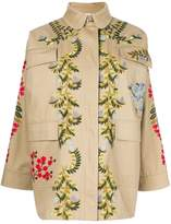 RED Valentino embroidered floral vines caban