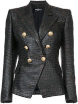 Balmain crocodile embossed blazer