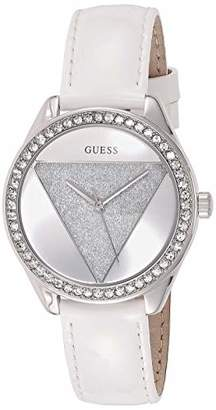 GUESS Womens Analogue Quartz Watch with Leather Strap W0884L2