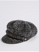 M&S Collection Brushed Tweed Winter Hat