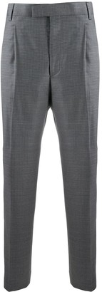 Paul Smith High-Rise Copped Houndstooth Trousers