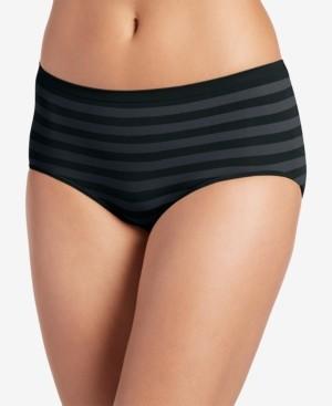 Jockey Matte & Shine Seamless Striped Modern Brief Underwear 2299