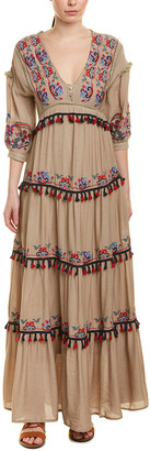 L'atiste Embroidered Maxi Dress