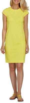 Joan Vass Petite Cap-Sleeve Casual Dress