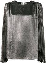 Christopher Kane pleated long sleeve blouse - women - Silk/Polyester/Acetate - 38
