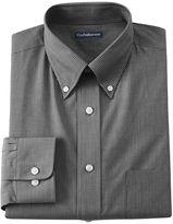 Croft & Barrow Men's Core Fitted Mini-Striped Broadcloth Button-Down Collar Dress Shirt