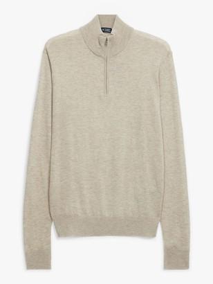 Hackett London Wool Cashmere Silk Half Zip Jumper