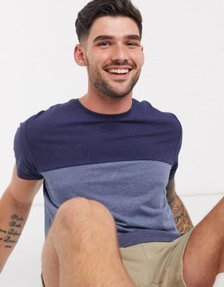 Esprit colour block t-shirt in blue
