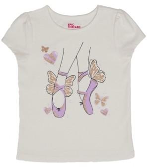 Epic Threads Little Girls Short Sleeve Ballet Graphic Mix and Match Tee