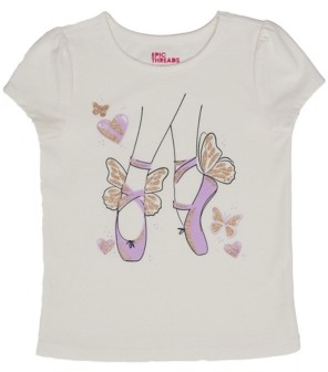 Epic Threads Toddler Girls Short Sleeve Ballet Graphic Mix and Match Tee