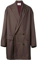 Kolor double breasted raincoat
