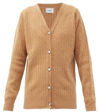 Erdem Myra Crystal-button Merino-wool Blend Cardigan - Beige