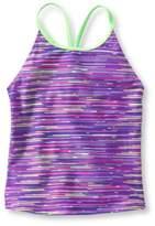 L.L. Bean L.L.Bean Girls' BeanSport Swimsuit Top, Y-Back Print
