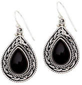 """Novica Artisan Crafted Sterling """"Palace"""" Onyx Drop Earrings"""
