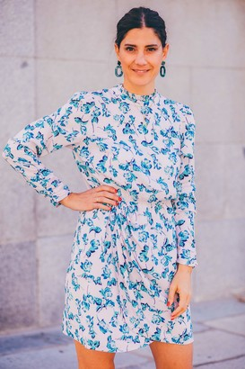 The Drop Women's Floral Print Tulip-Hem Mini Dress by @balamoda M
