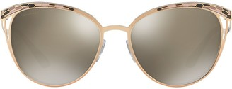 Bulgari cat-eye shaped sunglasses