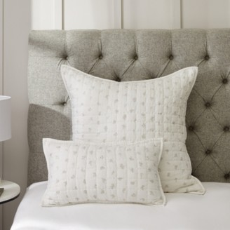 The White Company Cushion Cover, White Grey, Small Rectangle