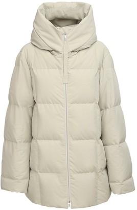 Jil Sander Oversize Hooded Nylon Down Jacket